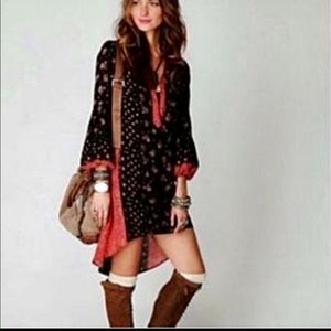Free People boho style dress tunic high low large